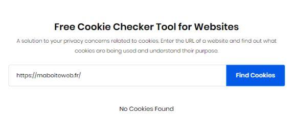 Trouver les cookies sur un site