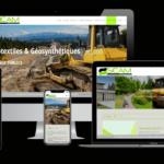 Conception site catalogue géotextile