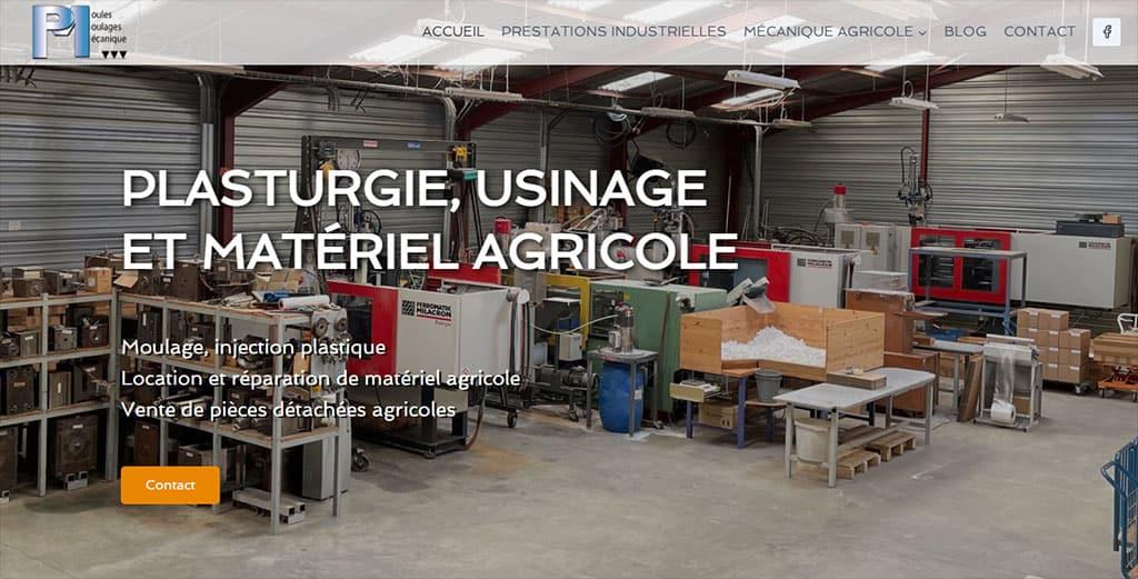 refonte site Martineau Plasturgie et mécanique agricole